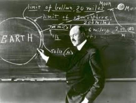 Rocket Science Diagrams on Chalkboard