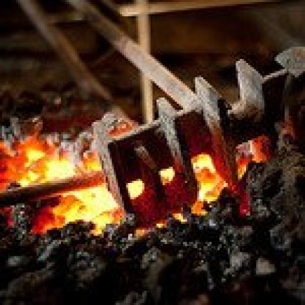 Branding Iron in a Fire