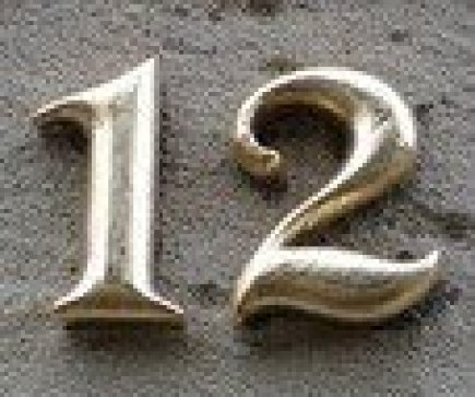 Brass Number 12 Sign