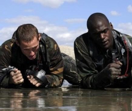 Two Navy SEALs in Swim Test