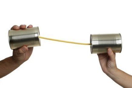 Communicating with Two Tin Cans and a String
