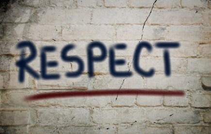 Respect Written on a Wall