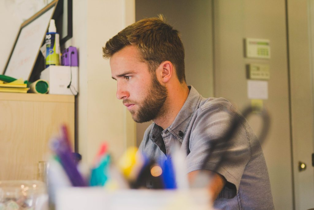 20200504 Man Working at Desk