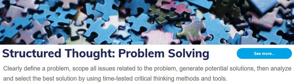 Structured Thought: Problem Solving