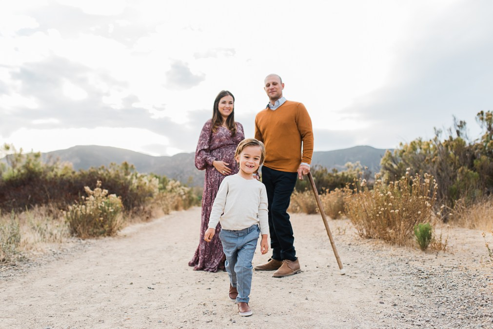 The 'D' Family   A holiday Mini Session on the trails in San Diego California