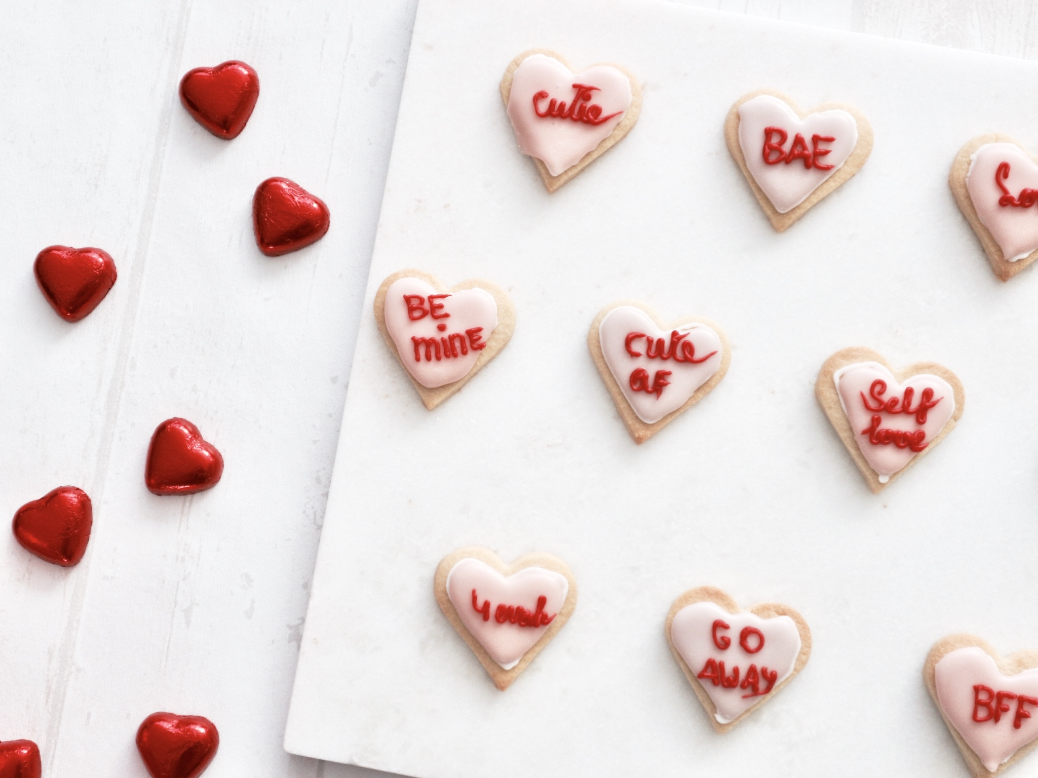Self Love Valentines Day Cookies