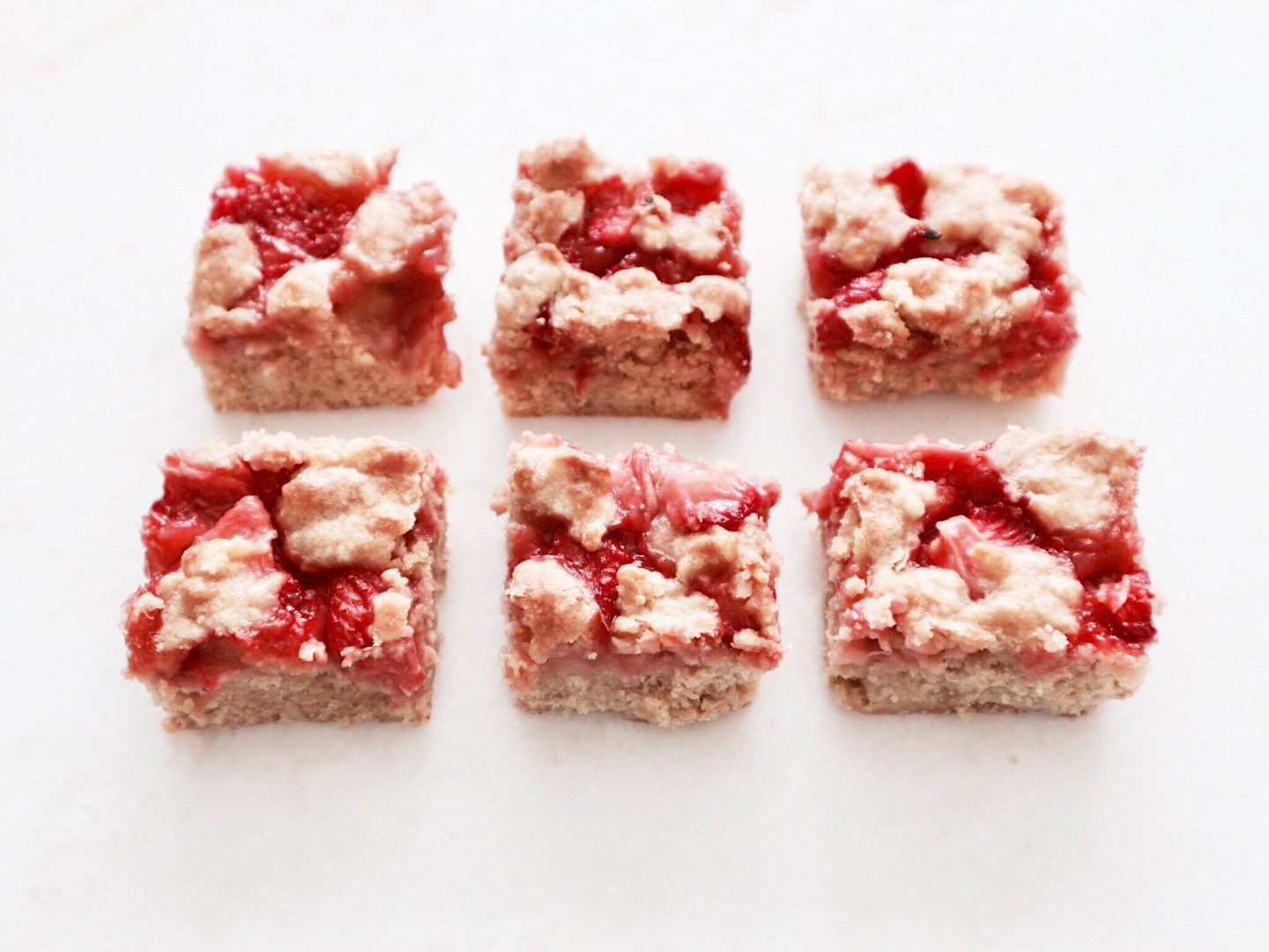 Stay Sweet As Strawberries | Strawberry Crumble Squares