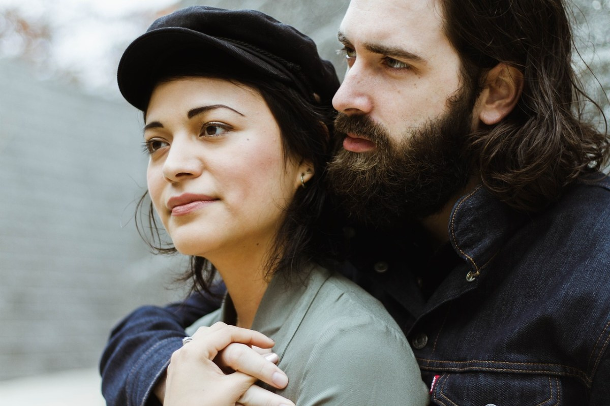 man and woman photo