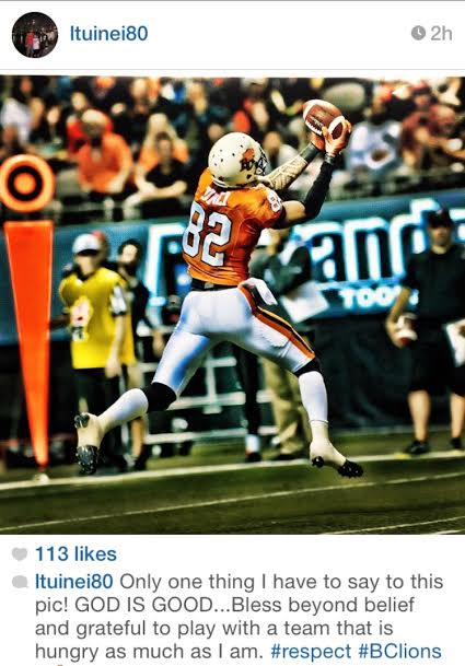 LT making his first CFL touchdown