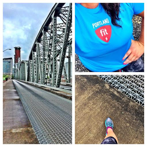 The home stretch, over Hawthorn Bridge in downtown Portland.. Pancakes.
