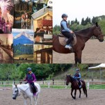 Photo of my #FutureBoard horseback riding. Then pictures of the real thing in Tuscany