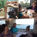 Photo of #FutureBoard riding the train, and our actual pictures on the train in business and first class.