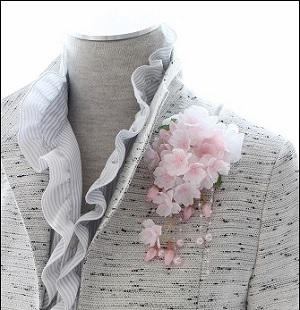 コサージュ 桜