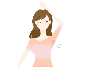 脇汗を気にする女性