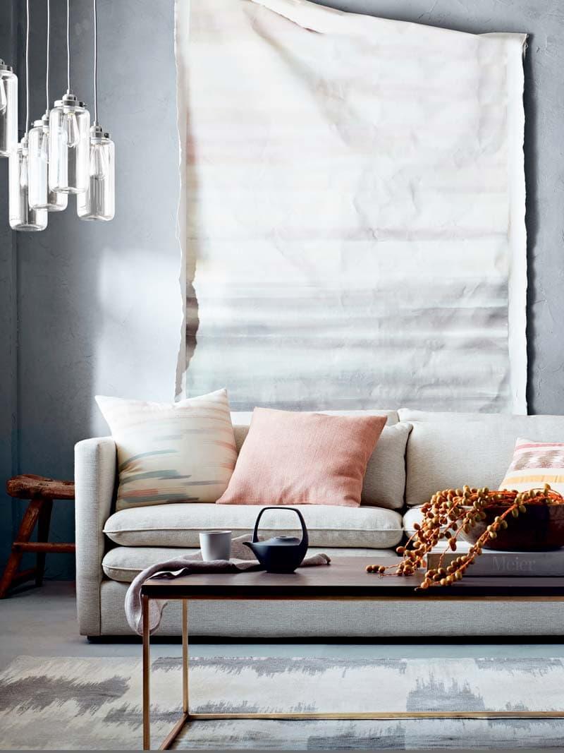 Upholstered Table Shelf Coffee
