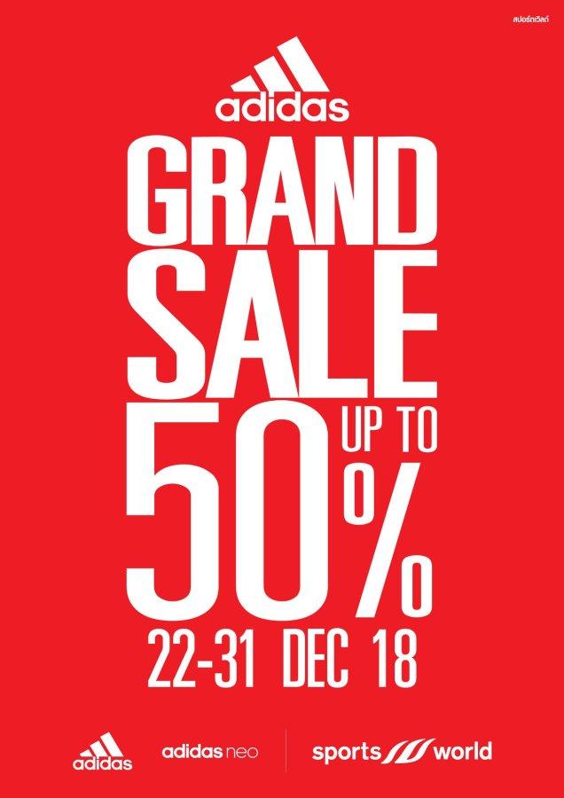 , Adidas Grand Sale @ Sportsworld (22 – 31 ธ.ค. 2561)