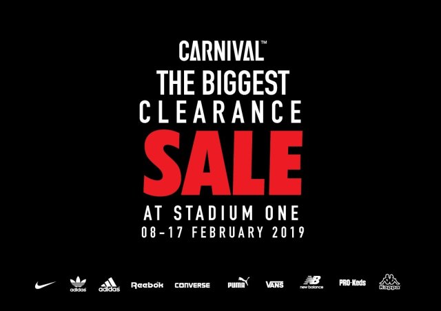 "CARNIVAL ""The Biggest Clearance Sale"" @ Stadium one (8 - 17 ก.พ. 2562)"