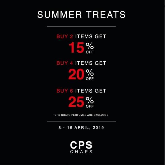 Cps Chaps SALE เสื้อผ้า ลดราคา สูงสุด 25% วันนี้ - 16 เมษายน 2562