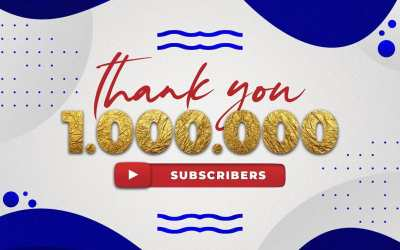 1.000.000 subscribers on Youtube!