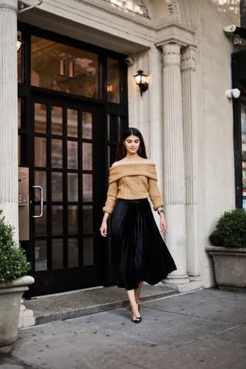 Velvet Skirt - Maggy London