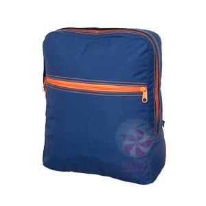 OM navy orange backpack