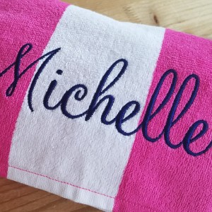 Cabana towel with Monterey name embroidery