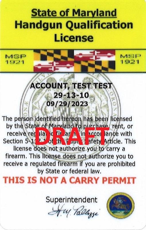Handgun Qualification License