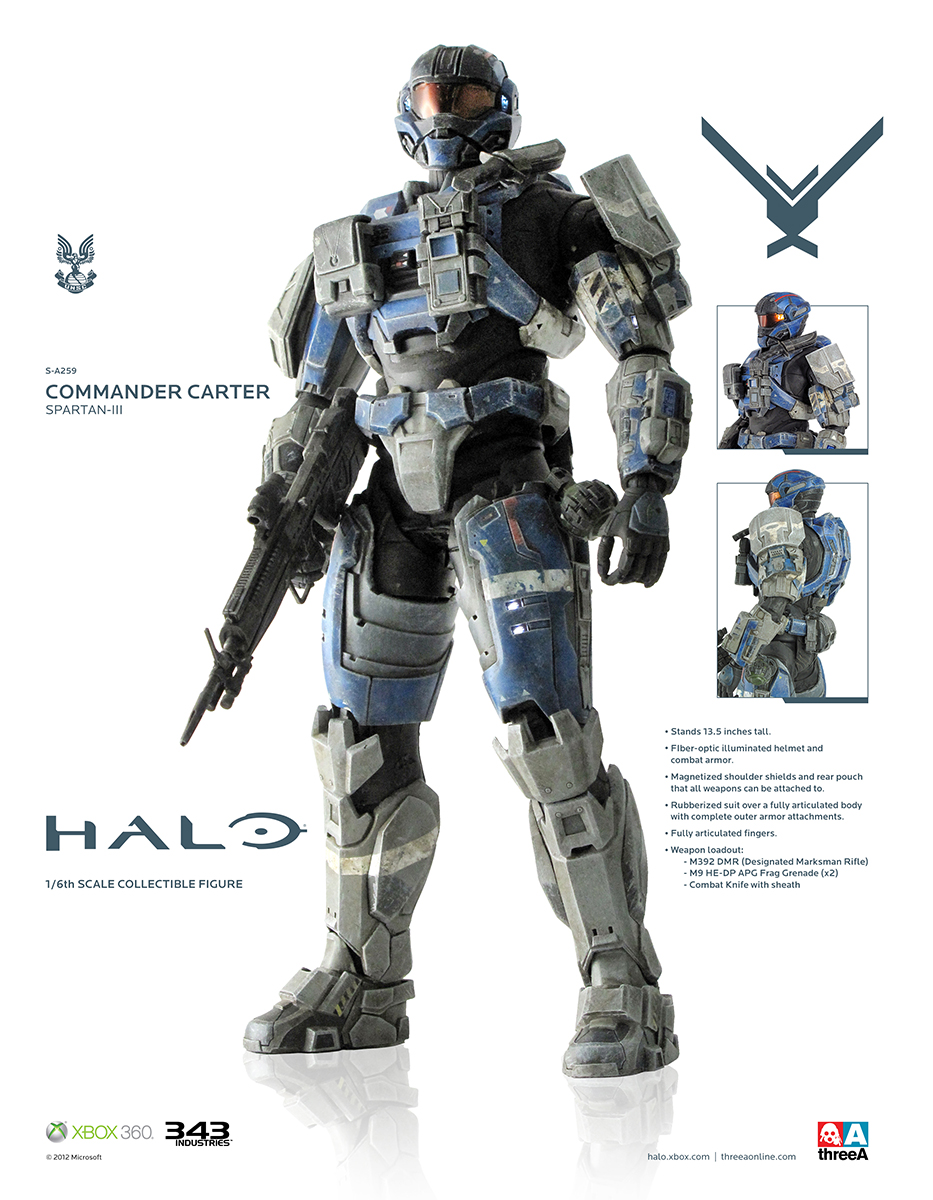 HALO Commander Carter Spartan III