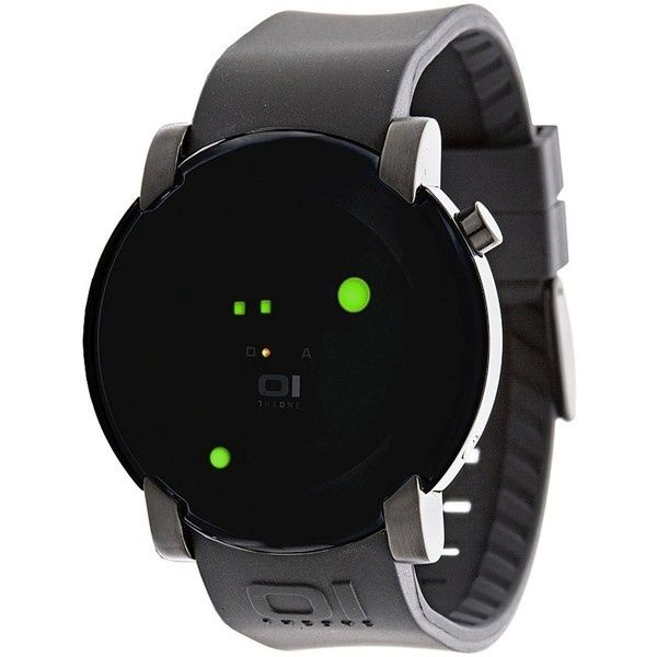 Gamma Ray Round Green LED Gun Metal Watch