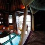 Bora Bora resort overwater room