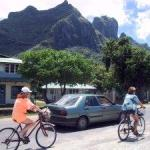 Biking around Bora Bora