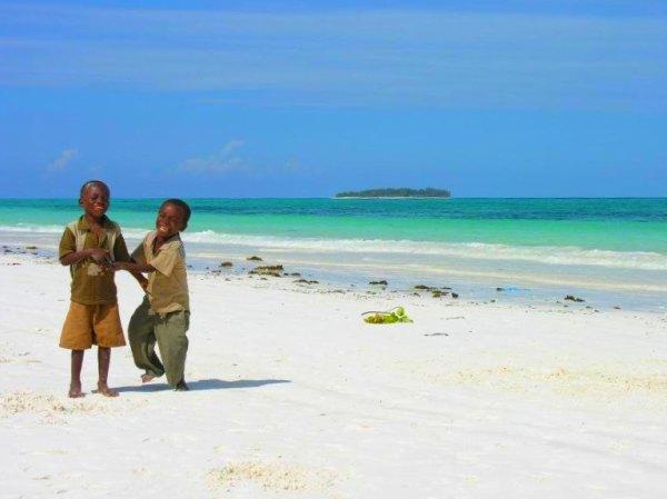 Kids on Matemwe Beach, Zanzibar