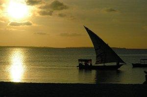 Matemwe Beach, sunset