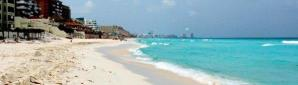 Panoramic Cancun beach