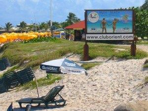 orient beach st martin sign