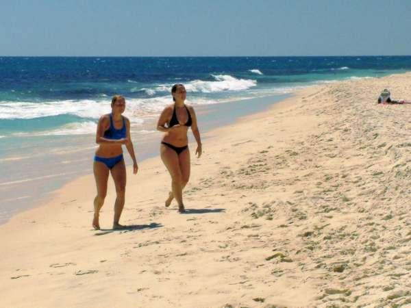Girls on the Beach at Cottesloe Perth Australia