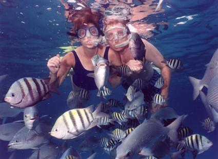 Jill & Butch Snorkeling at Chankanaab Park Cozumel