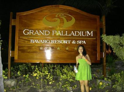 Grand Palladium Bavaro Sign at night
