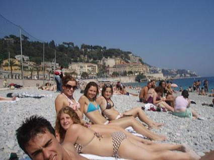 French Riviera beach