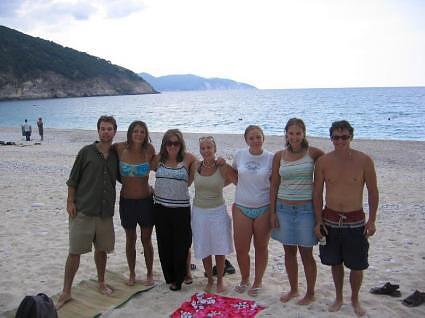 Friends on Myrtos Beach