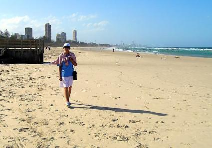 A walk along the Gold Coast at Burleigh Heads