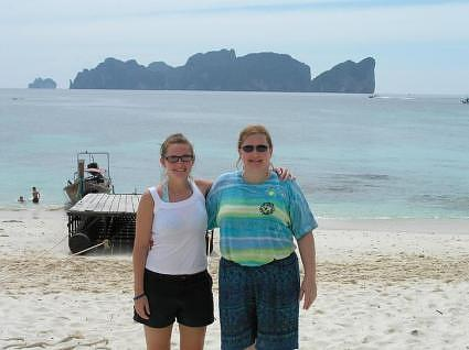 Koh Phi Phi Don with My Sis