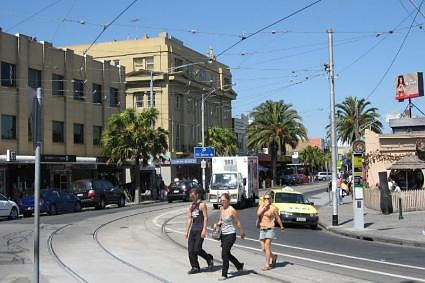 Acland Street, one of the main streets of St Kilda