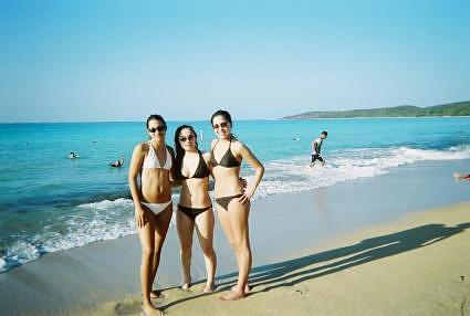 3 mamis at Seven Seas beach in Fajardo