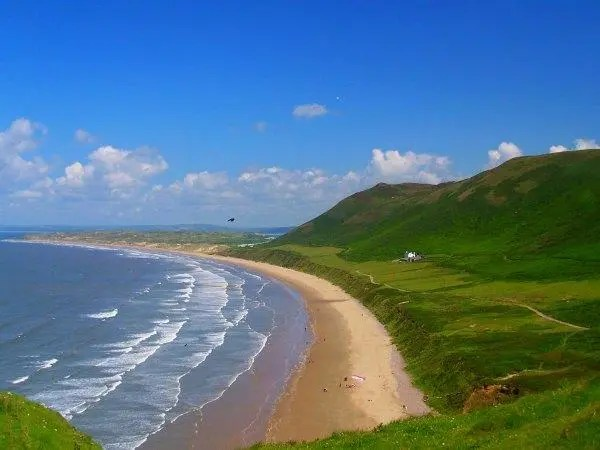 Rhossili Bay Beach Wales