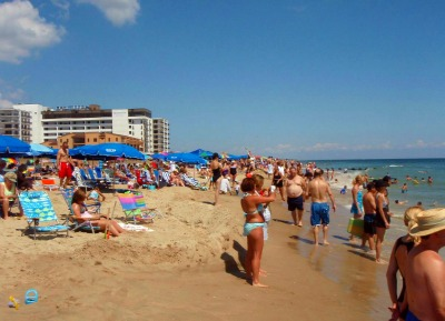 Crowded day at Rehoboth Beach, Delaware