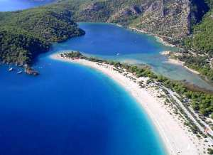 Oludeniz Beach from paraglider