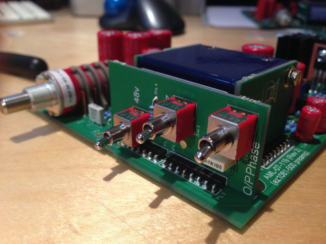 AML ez1081 Mic Pre - Front Switches
