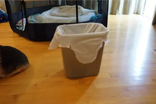 Easy trash can solution