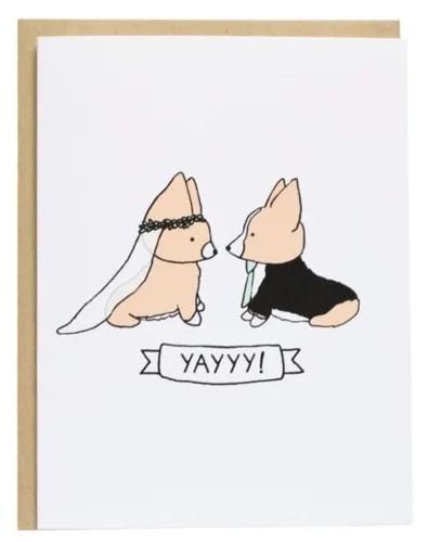Corgi Wedding card